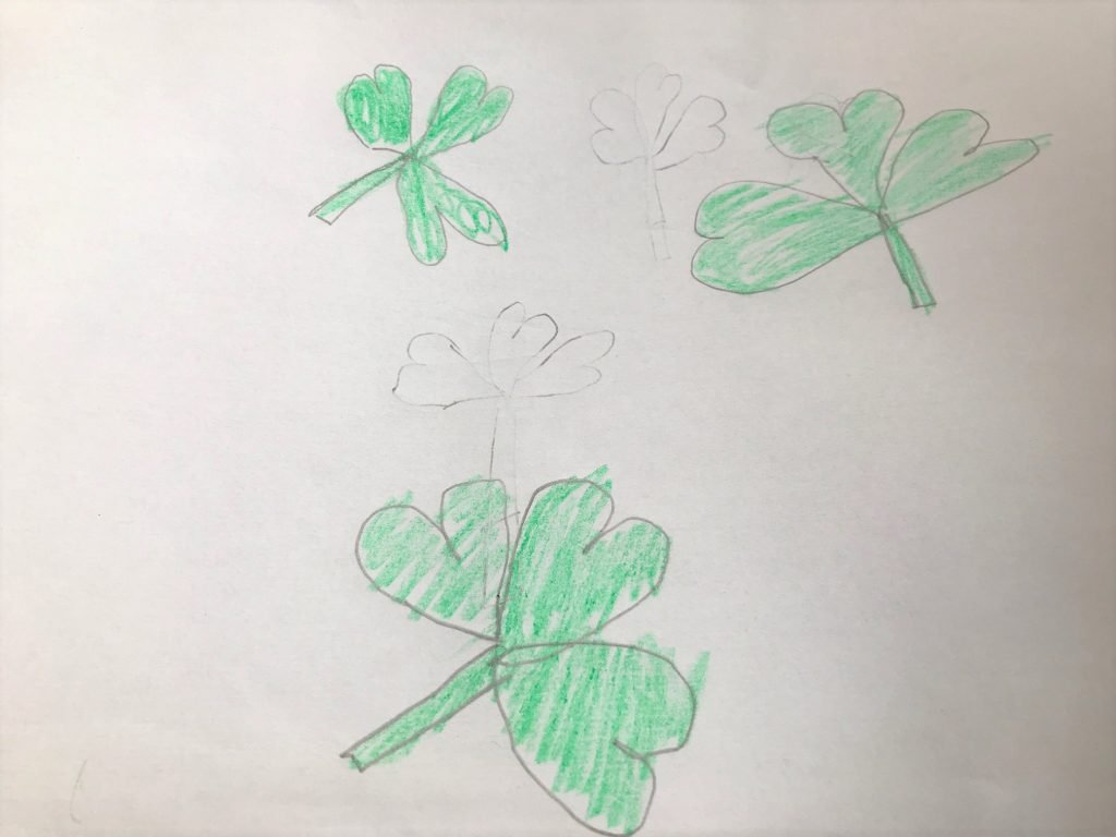 Clover Leaves representing the trinity