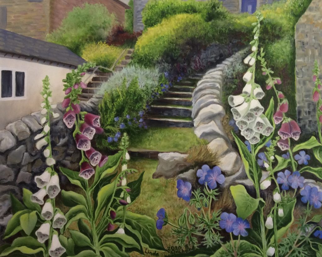 Summer Flowers and Stone Steps in Bonsall