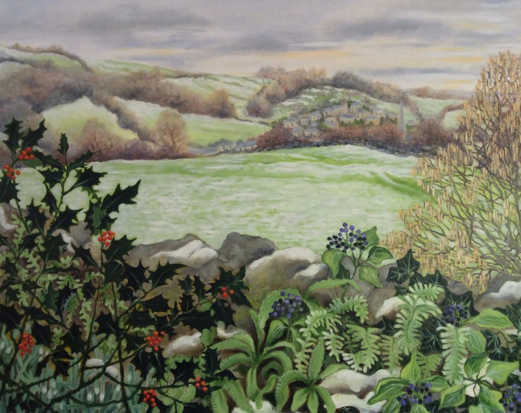 Snowy Landscape - a painting by Linda Orchard